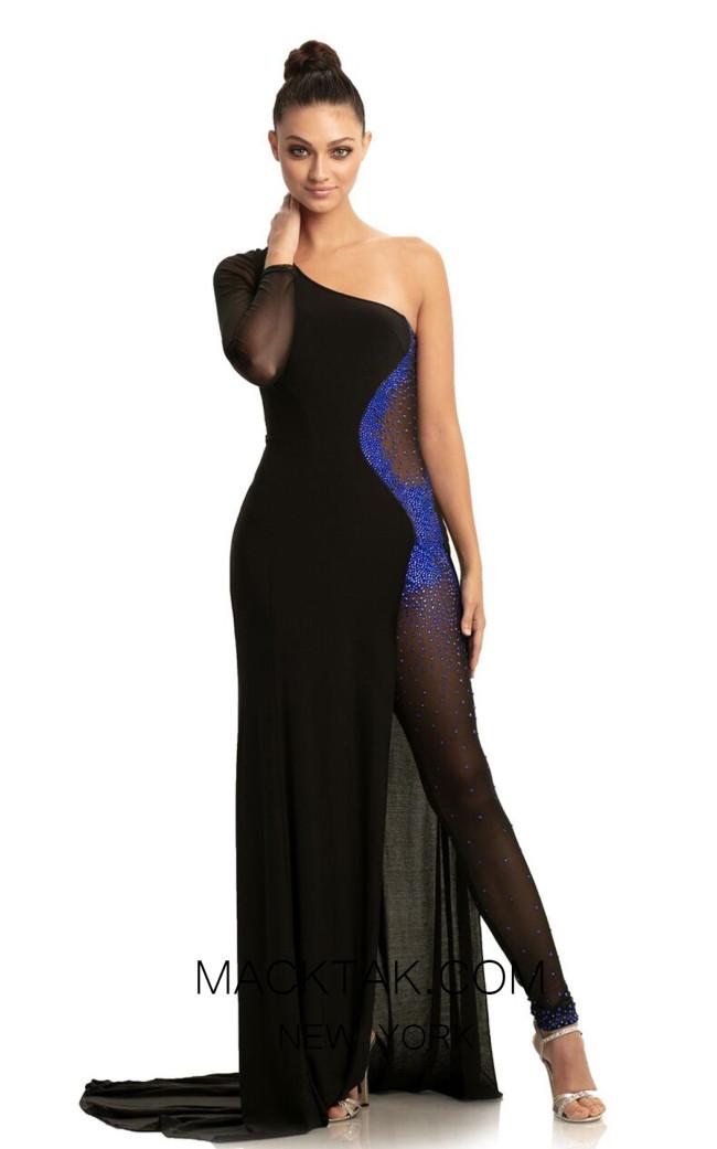 Johnathan Kayne 9061 Black Royal Front Dress