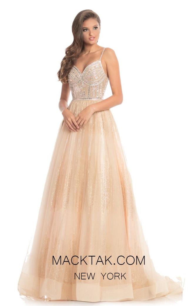 Johnathan Kayne 9067 Champagne Front Dress
