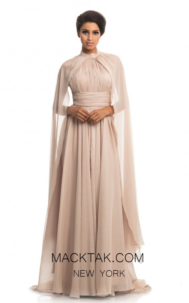 Johnathan Kayne 9074 Champagne Front Dress