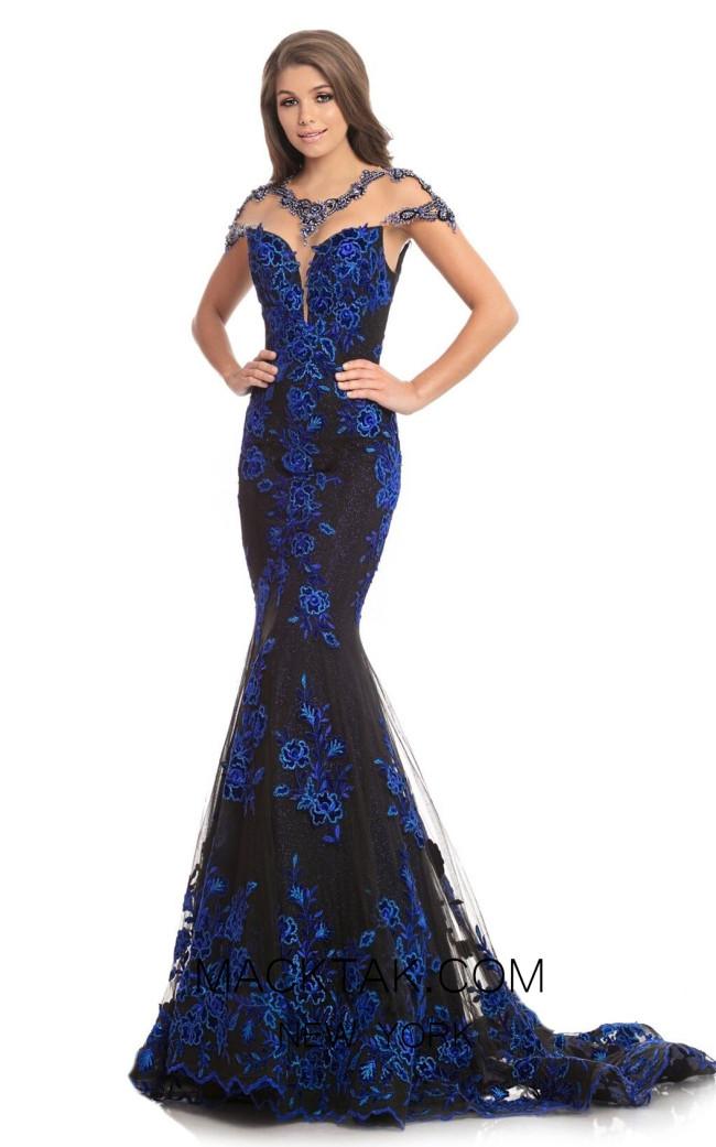 Johnathan Kayne 9077 Black Royal Front Dress