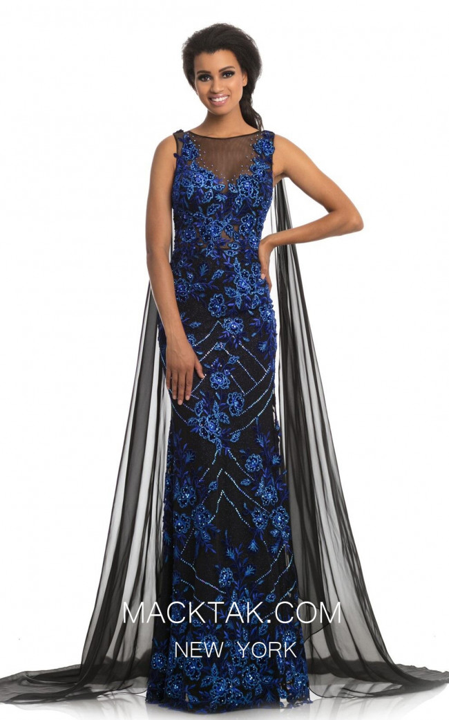 Johnathan Kayne 9085 Black Royal Front Dress