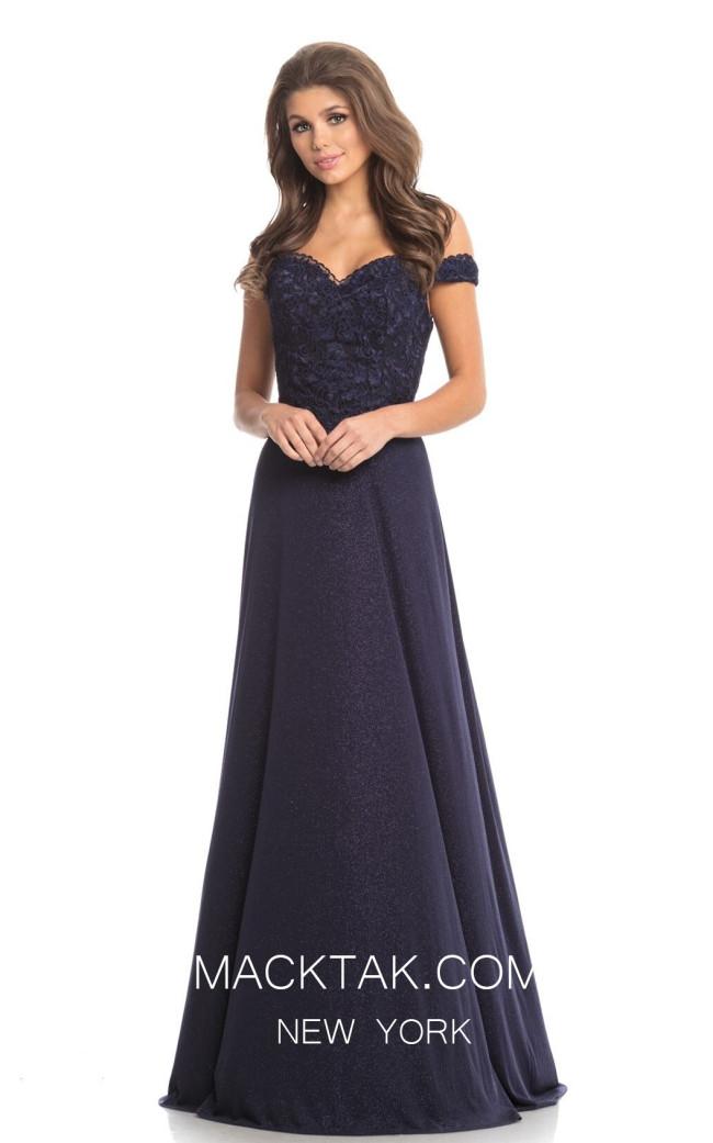 Johnathan Kayne 9089 Navy Front Dress