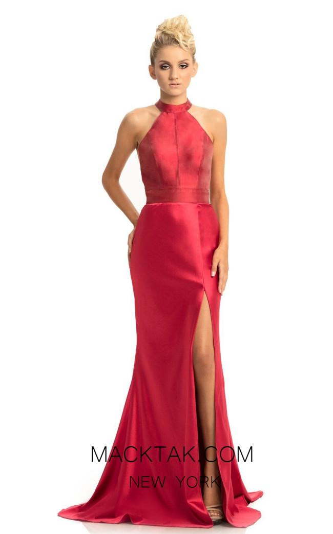 Johnathan Kayne 9091 Wine Front Dress