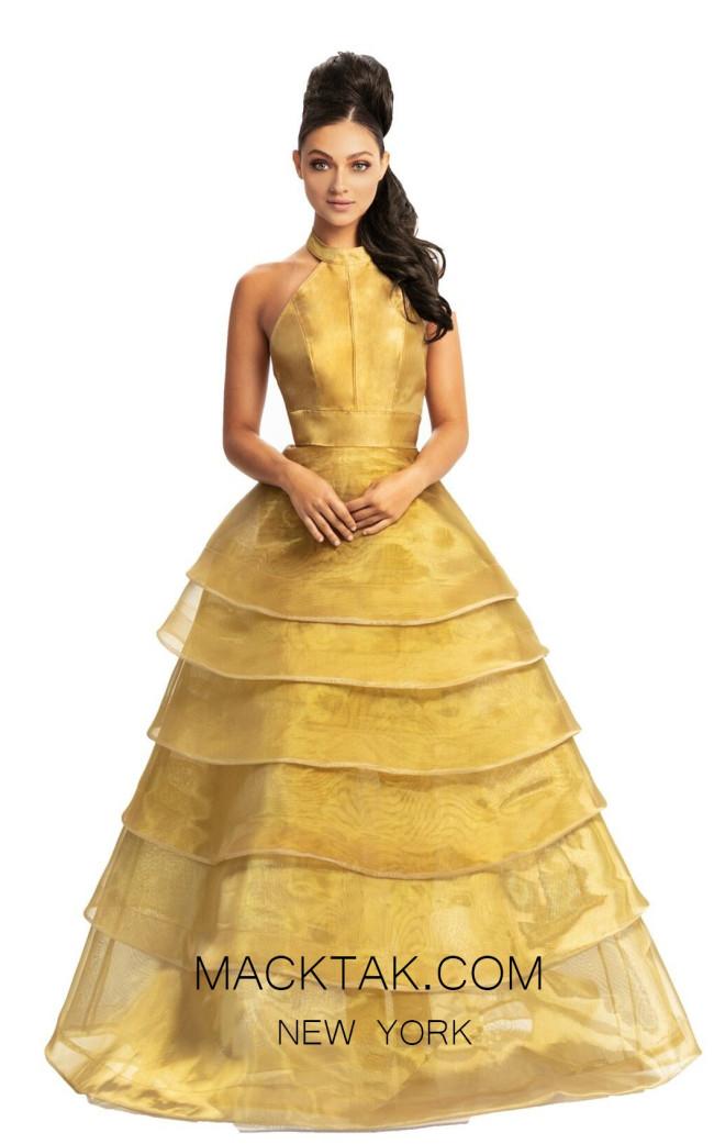Johnathan Kayne 9093 Gold Front Dress