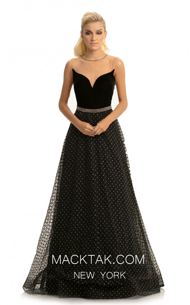 Johnathan Kayne 9094 Black Front Dress