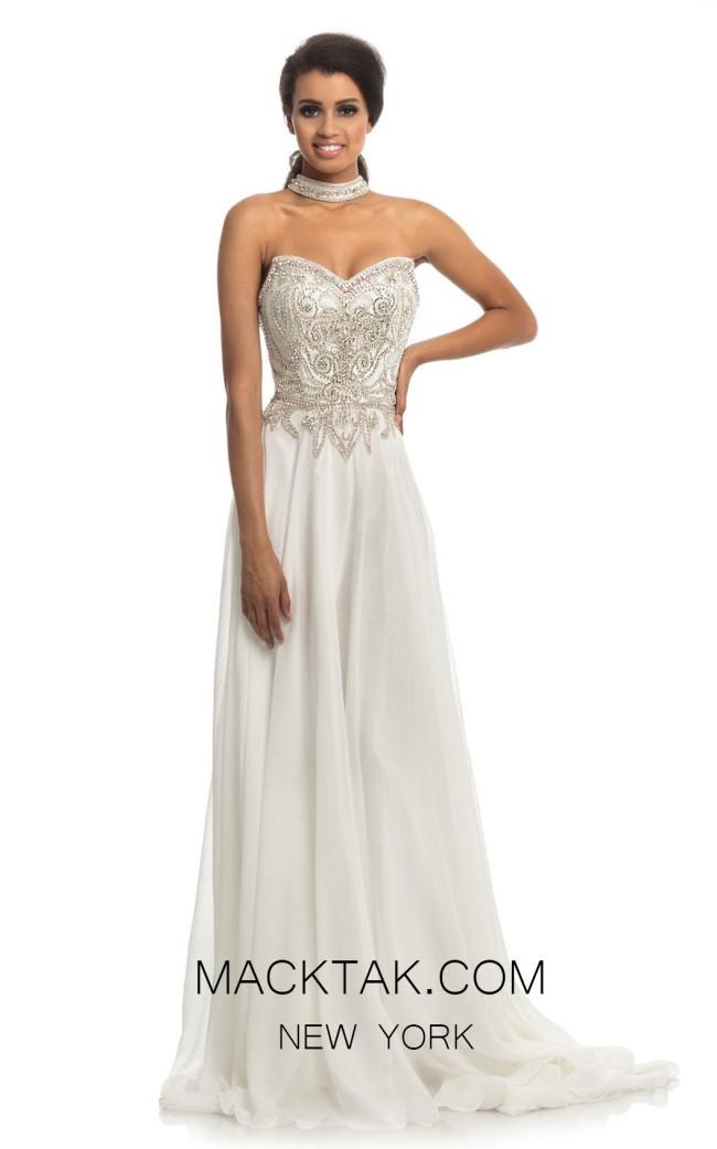 Johnathan Kayne 9111 White Front Dress