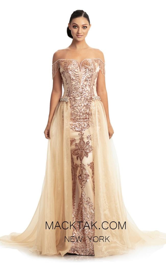 Johnathan Kayne 9112 Rose Gold Front Dress