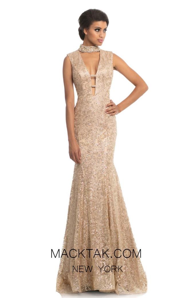 Johnathan Kayne 9113 Gold Front Dress