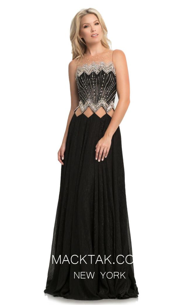 Johnathan Kayne 9117 Black Front Dress