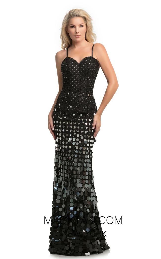 Johnathan Kayne 9121 Black Front Dress