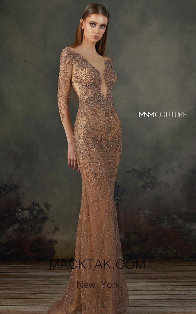 MNM K3720 Bronze Front Evening Dress