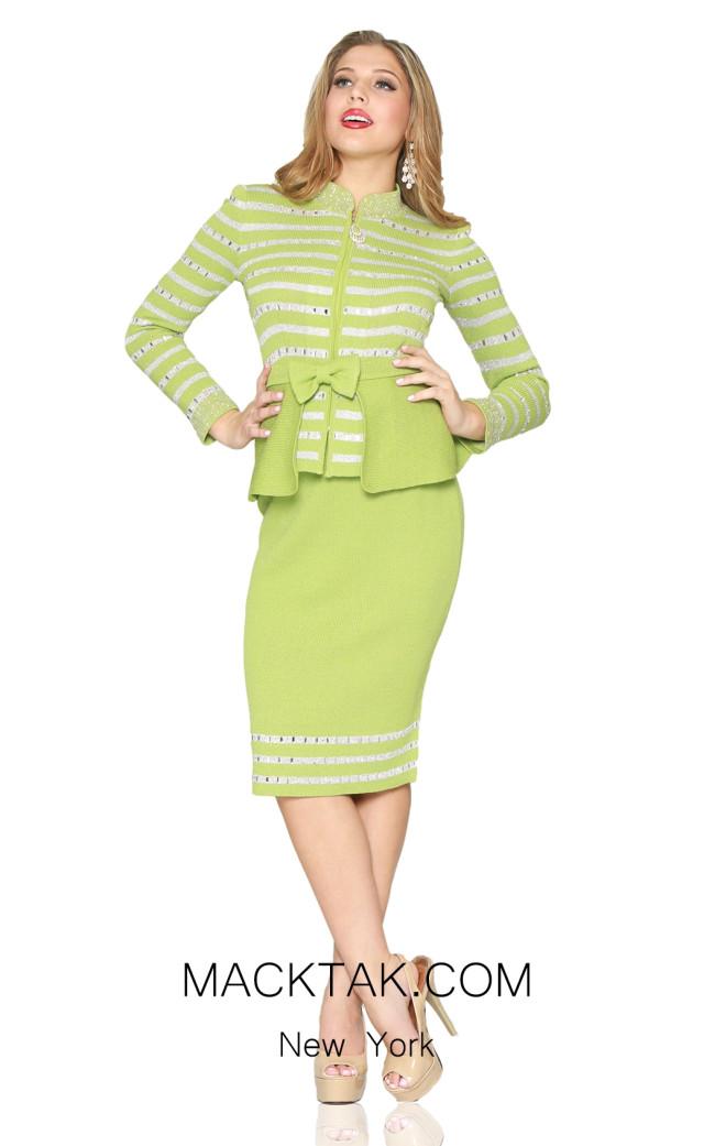Kourosh 4925 Fern Front Knit Suit