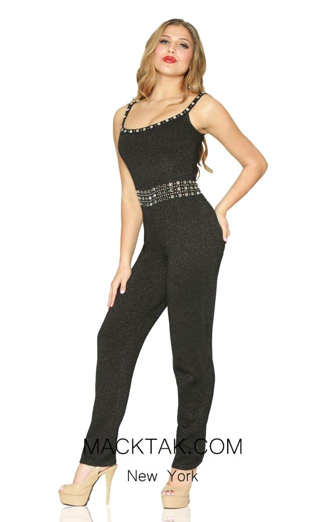 Kourosh Evening 80049 Black Front Dress