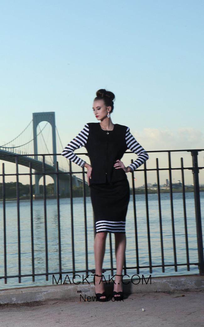 Kourosh H145 Black Front Dress