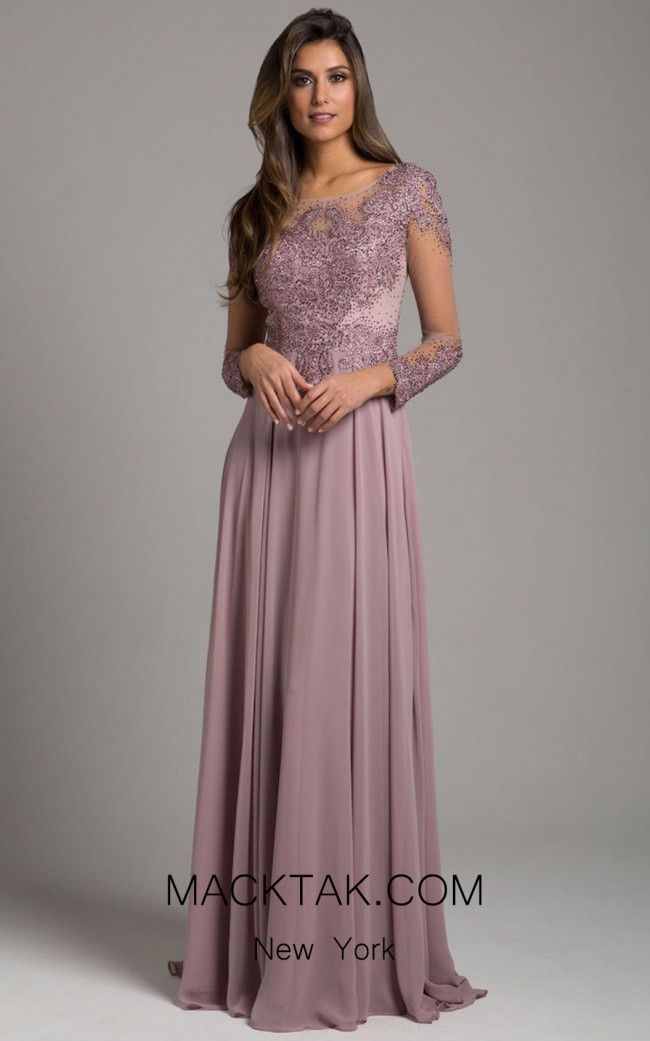 Lara 29921 Mauve Front Dress