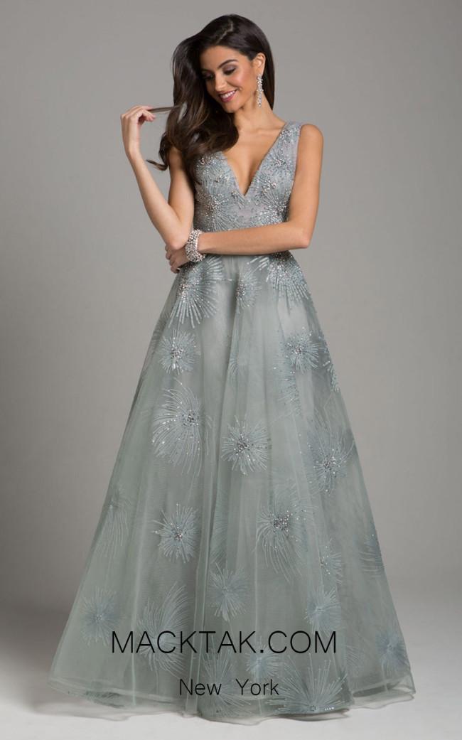 Lara 29928 Silver Front Evening Dress