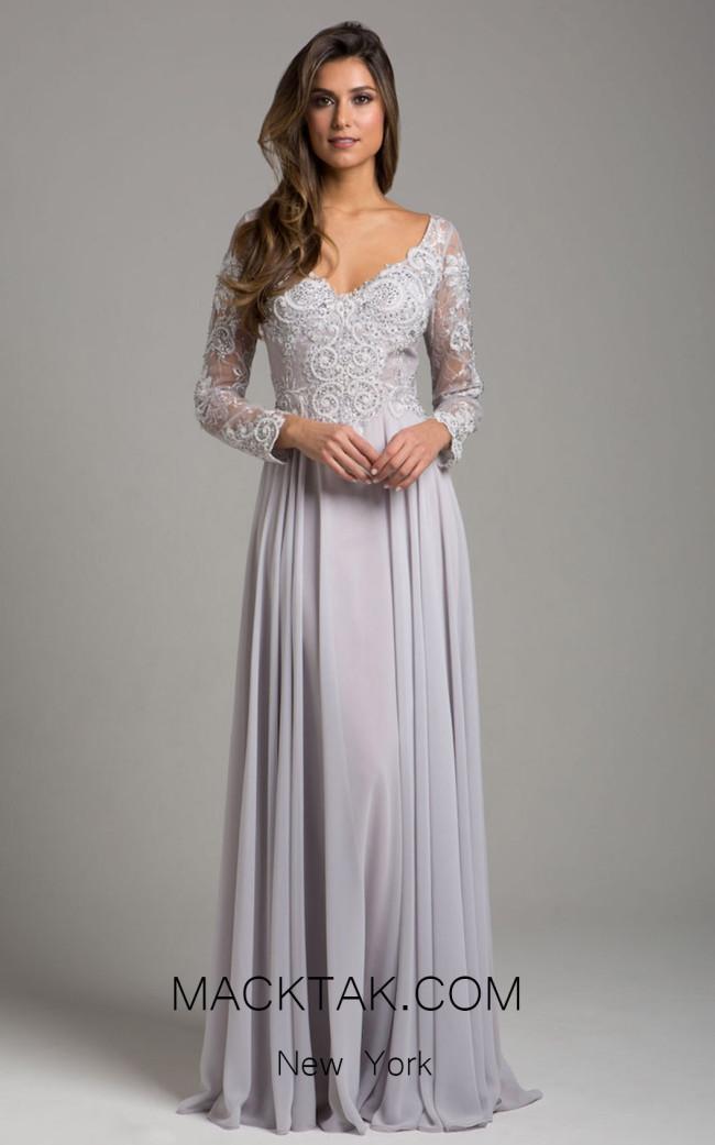Lara 29929 Silver Front Evening Dress