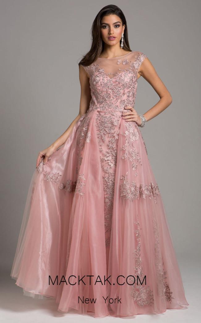 Lara 29946 Mauve Front Evening Dress
