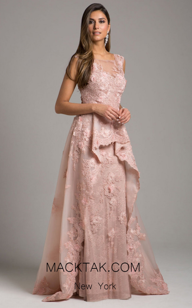 Lara 29948 Blush Front Evening Dress