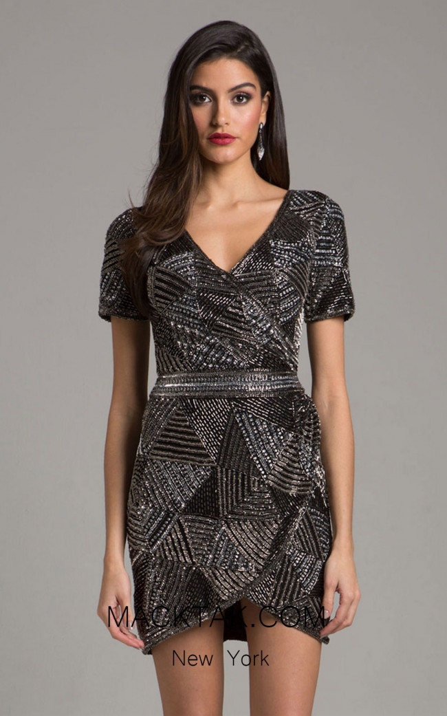 Lara 29979 Black Front Evening Dress