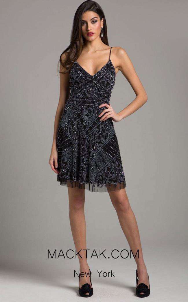 Lara 29989 Black Front Dress