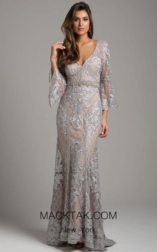 Lara 33275 Silver Nude Front Dress