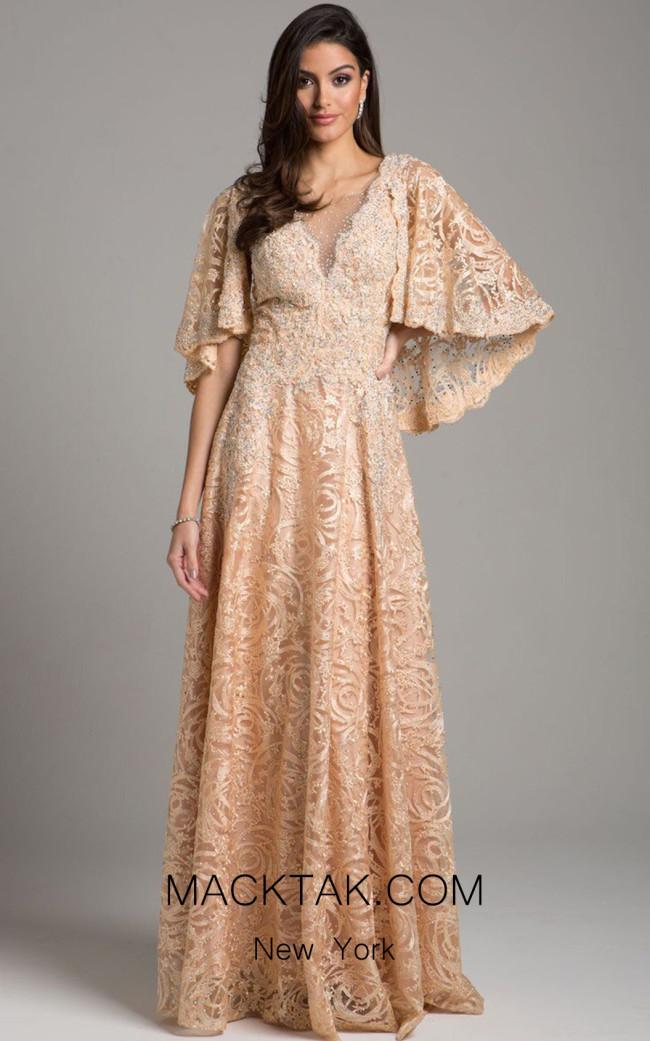 Lara 33492 Champagne Front Dress