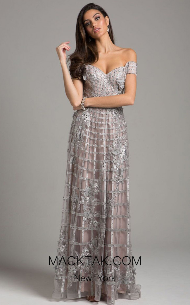 Lara 33650 Silver Front Dress