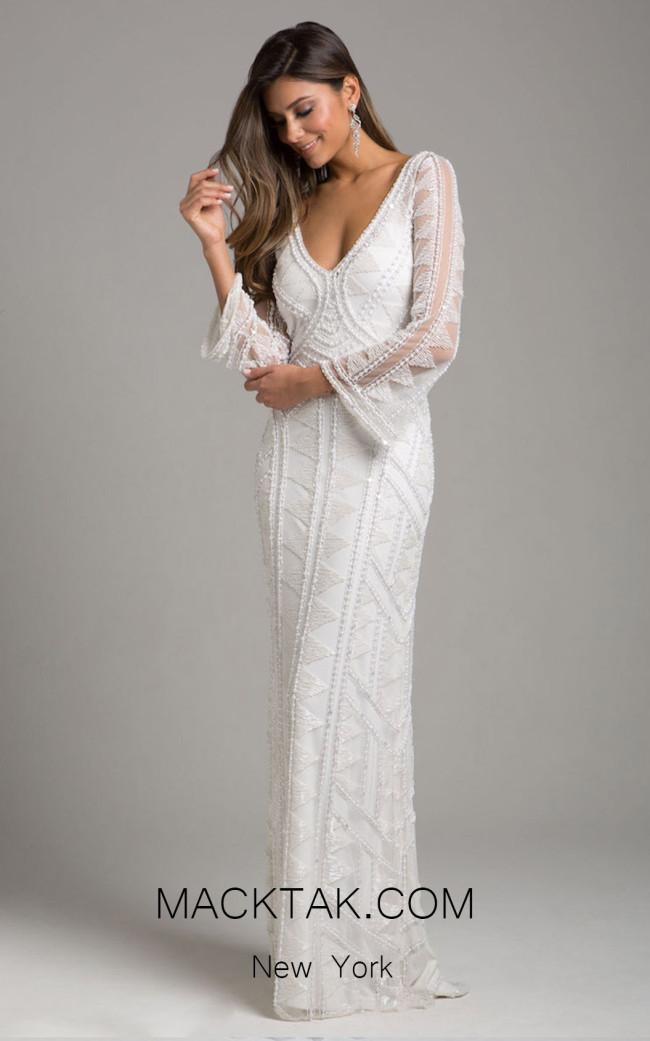 Lara 51001 Ivory Front Evening Dress
