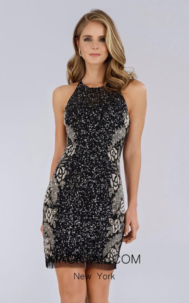 Lara 29718 Black/Silver Front Dress