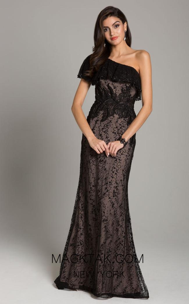 Lara 29851 Black Nude Front Dress