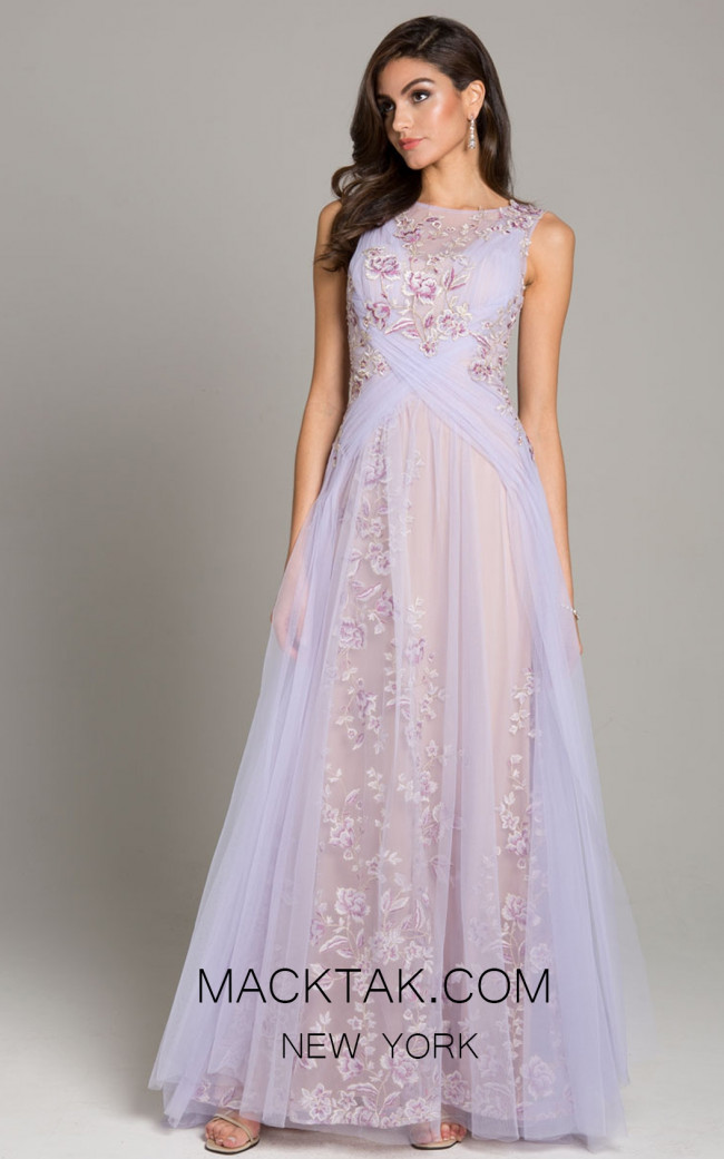 Lara 29859 Lavender Front Evening Dress