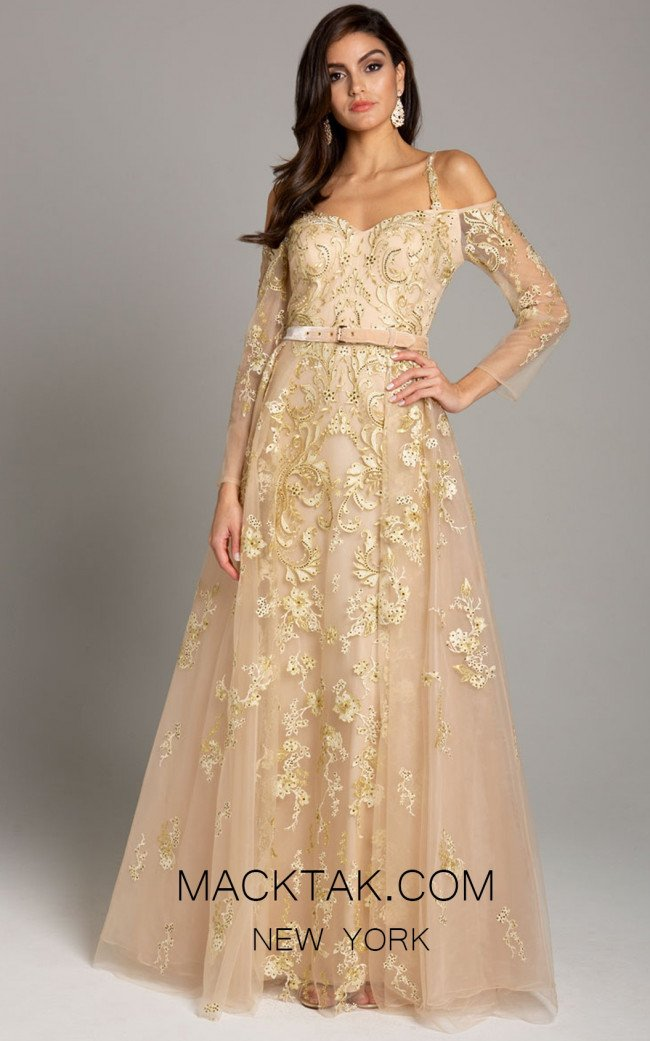 Lara 29870 Gold Front Dress