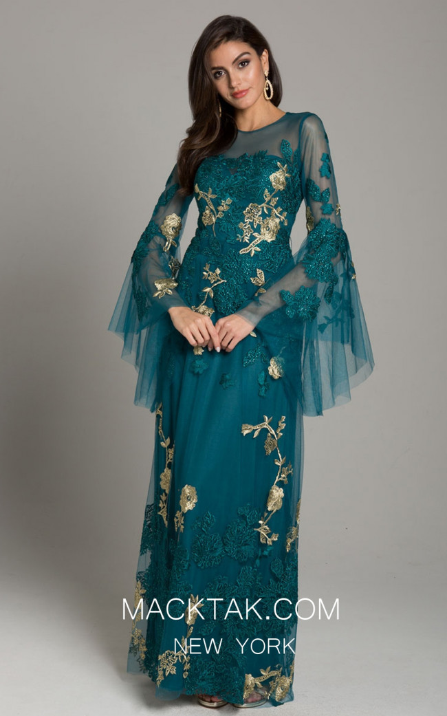 Lara 29871 Teal Front Dress