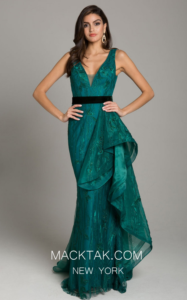Lara 29872 Dark Green Front Dress