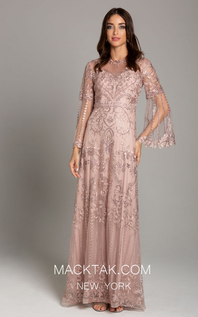 Lara 29875 Blush Front Dress