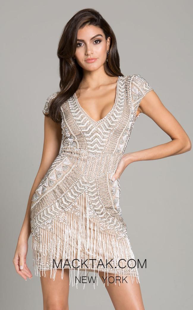 Lara 29889 Nude Ivory Front Dress