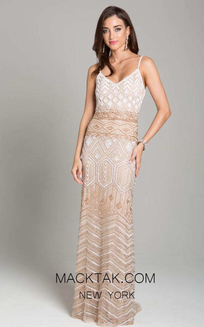 Lara 29895 Nude Multi Front Dress