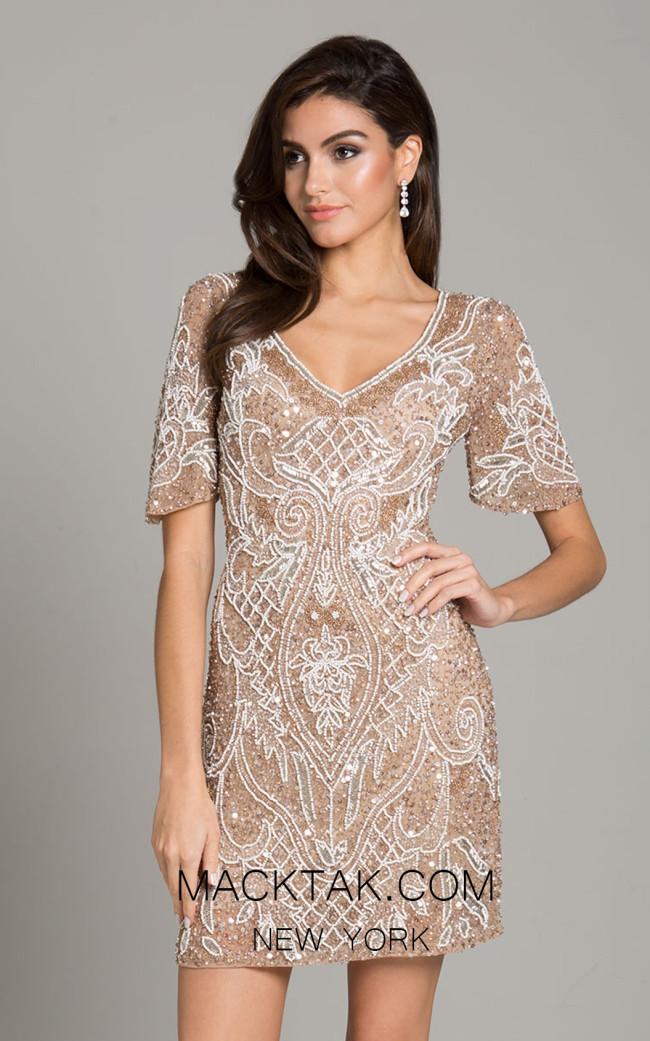 Lara 29916 Champagne Front Dress