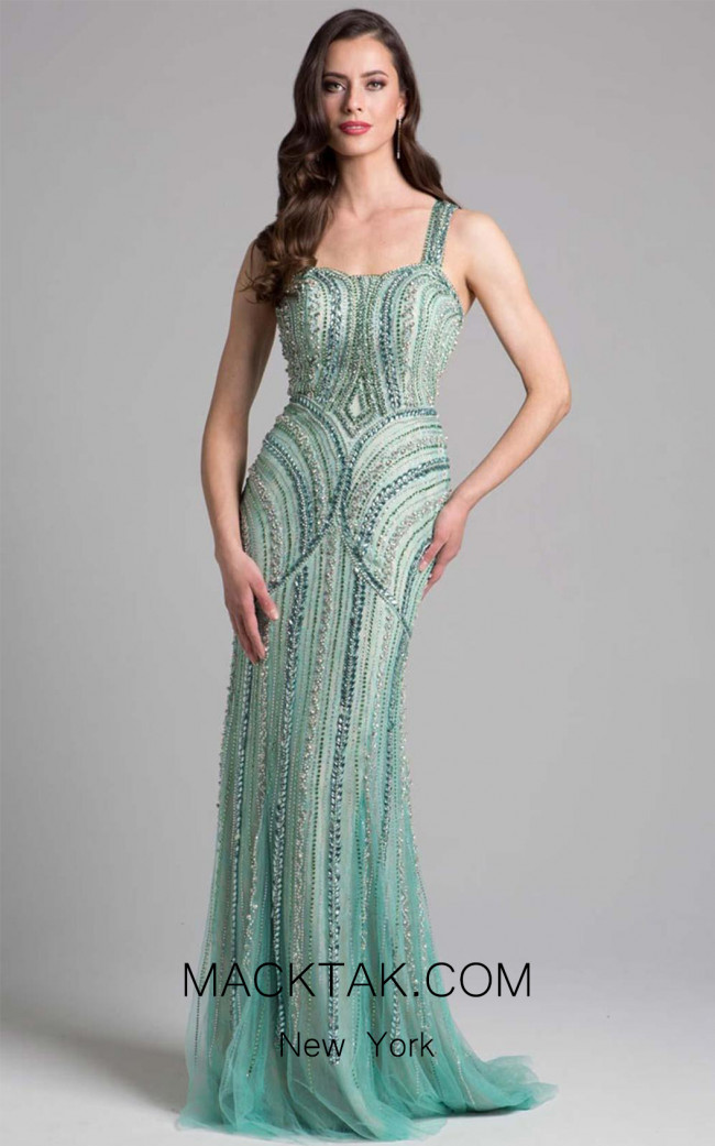 Lara 33201 Light Green Front Dress