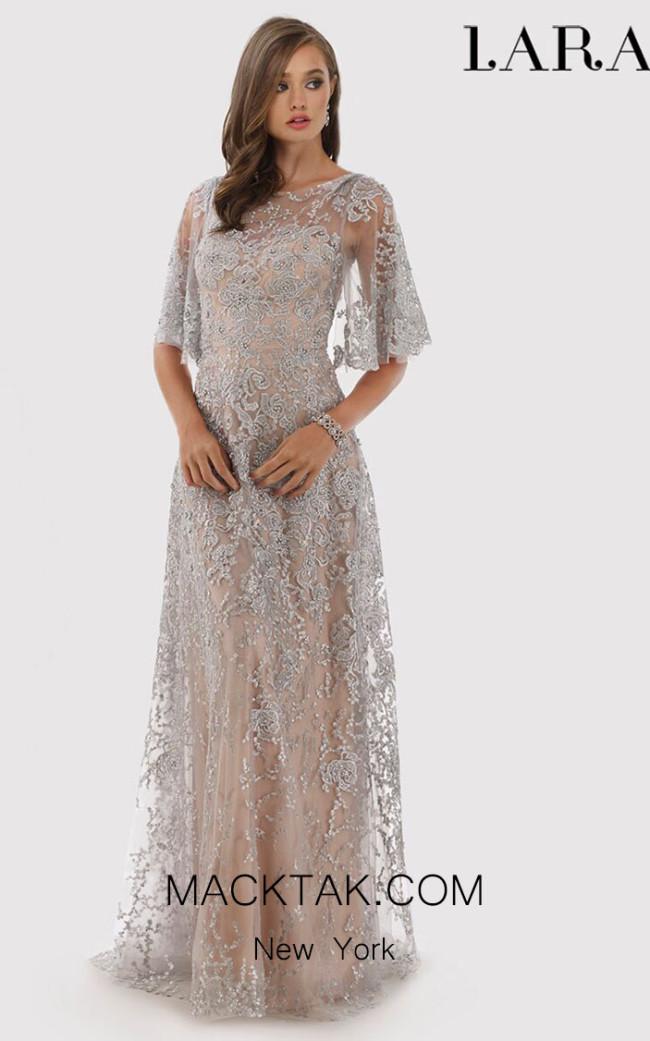 Lara 33277 Silver Front Dress