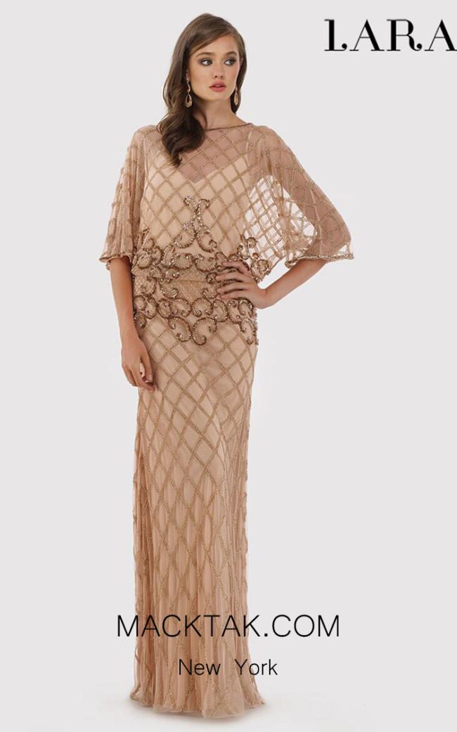 Lara 33434 Rose Gold Front Dress