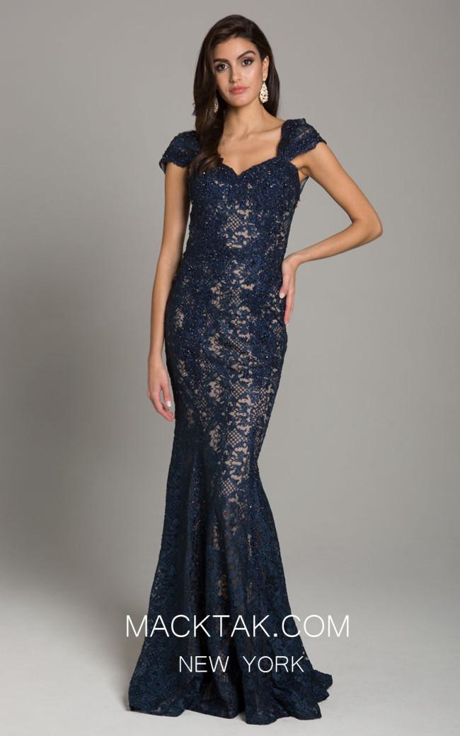 Lara 33491 Navy Front Dress