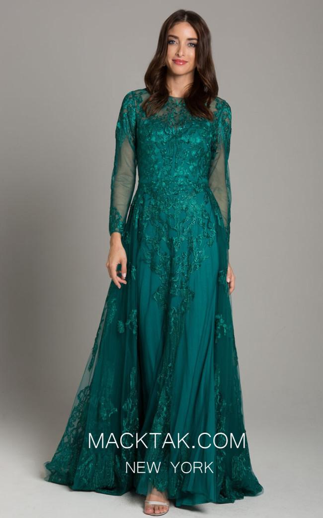Lara 33626 Green Front Dress
