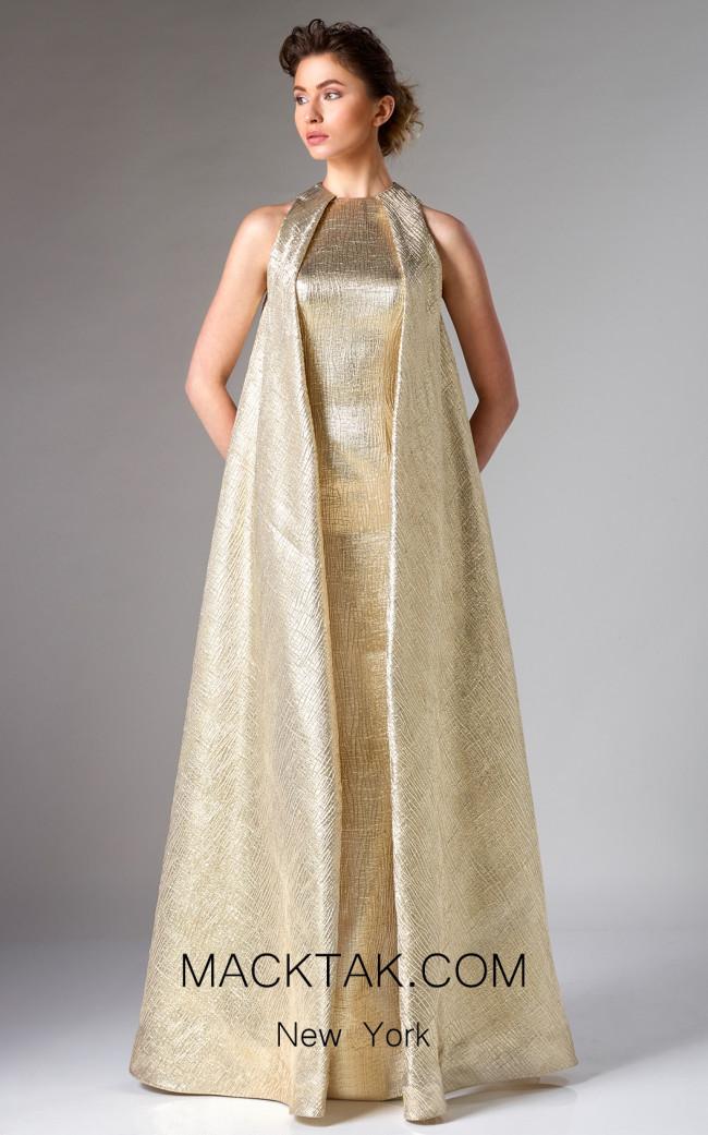 Edward Arsouni FW0275 Gold Front Dress