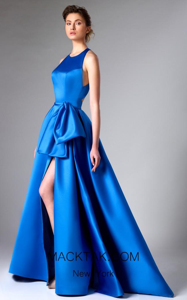 Edward Arsouni FW0287 Blue Front Dress