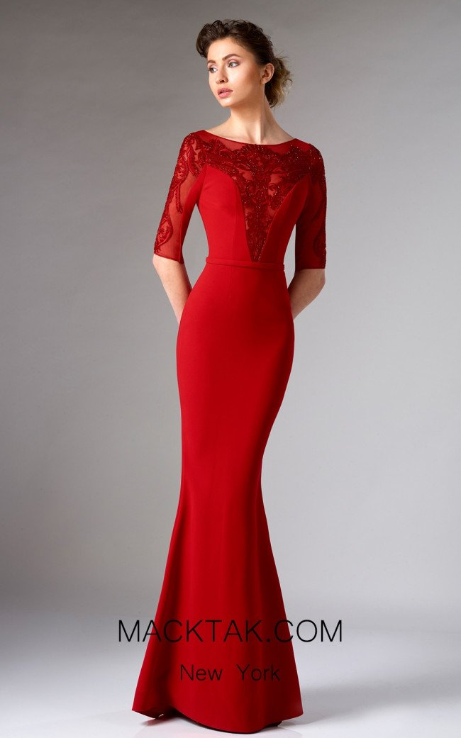 Edward Arsouni FW0294 Red Front Dress