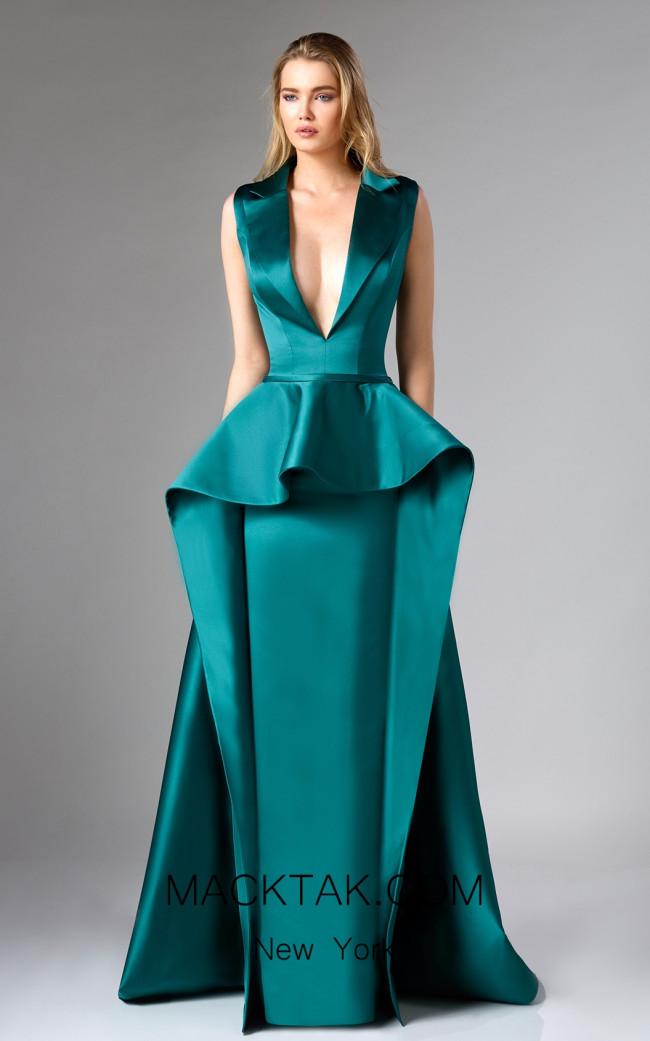Edward Arsouni FW0310 Emerald Front Dress