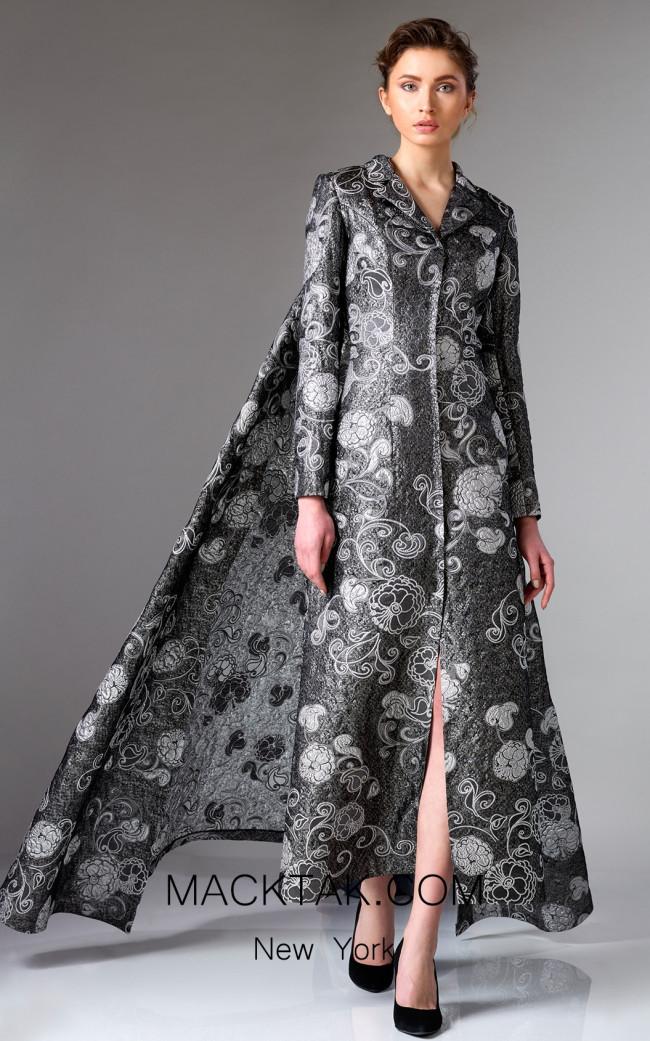 Edward Arsouni FW0316 Black Silver Front Dress