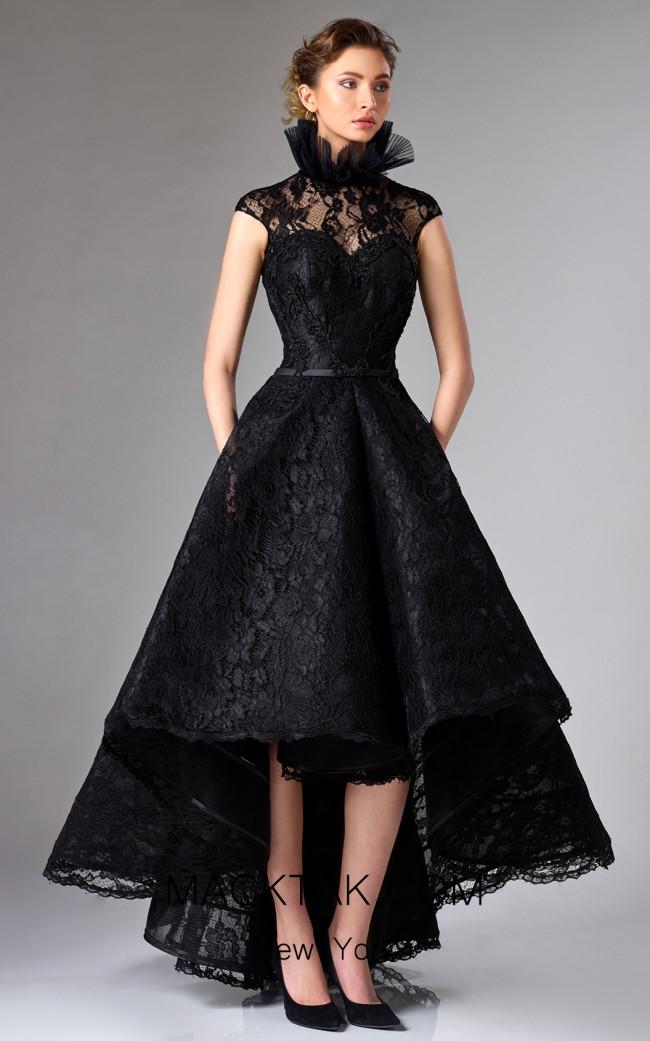 Edward Arsouni FW0319 Black Front Dress